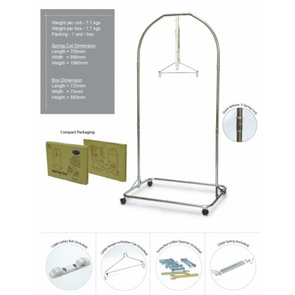 My Dear - Baby Spring Cot (Chrome) 24002