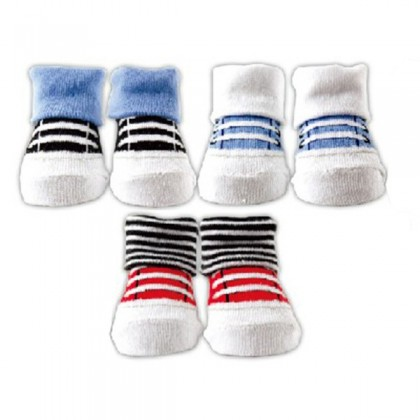 Luvable Friends - Novelty Sock Gift Set 0-9 Months (3 Pair) Blue