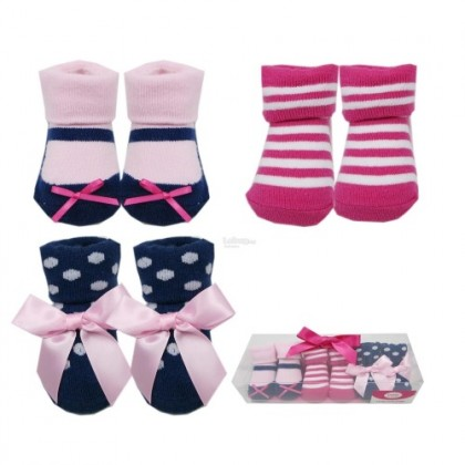 Luvable Friends - Girl Sock Gift Set 0-9 Months (3 Pair)