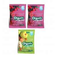 Organix Finger Food - Raspberry + Apple Rice Cakes 7m+ (50g)