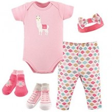 Hudson Baby - Layette Box Set 5pcs 0-3m Pink