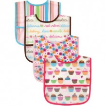Luvable Friends - PEVA Bibs Cup Cake 4pk