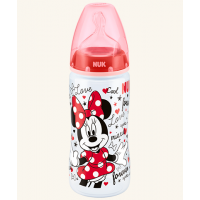 NUK - Premium Choice: Minnie Wide Neck Bottle With Silicone Teat S2-M (6m+) 1pk 300ml/10oz