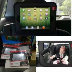 Akarana Baby - 2 in 1 Baby Car Mirror & Tablet Holder