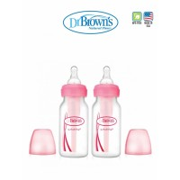 Dr.Brown's  Option Narrow Bottle Pink (120ml x 2)