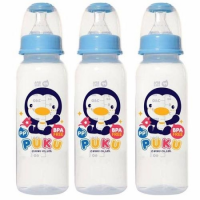 Puku Baby Bottle Slim Neck 240ml (3pcs)