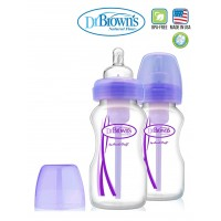 Dr.Brown's Option Wide Neck Bottle Purple (270ml x 2)