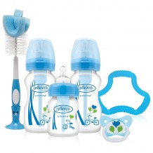 Dr.Brown - Option Wide Neck Gift Set Blue