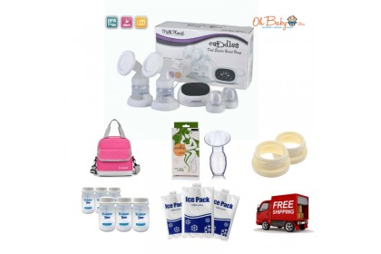 Milk Planet Cuddles Double Electric Breast Pump Package