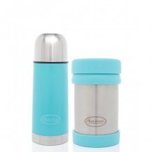 Autumnz - Stainless Steel Vacuum Flask & Food Jar Set Blue (350ml)