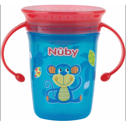 Nuby - Twin Handle 360 Wonder Cup 240ml (Red)