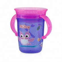 Nuby - Twin Handle 360 Wonder Cup 240ml (Pink)