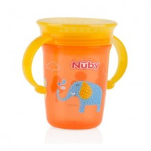 Nuby - Twin Handle 360 Wonder Cup 240ml (Orange)