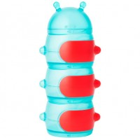 Boon - Stack Caterpillar Snack Container Teal/Red