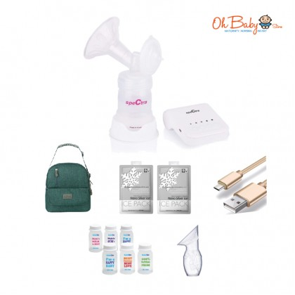 Spectra Q Single Electric Breast Pump Package