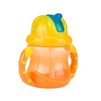 Nuby - Grip And Sip Flip-It Fat Straw Cup (12m+) Org