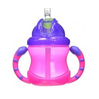 Nuby - Grip And Sip Flip-It Fat Straw Cup (12m+) Pnk