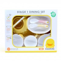 Piyo Piyo Stage 1 Training Tableware Set 8pc Pink