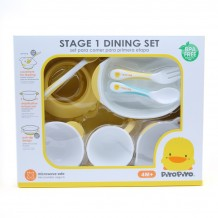 Piyo Piyo Stage 1 Training Tableware Set 8pc Blue