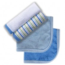 Luvable Friends Premium Knit Terry Washcloths 4pk (Blue)