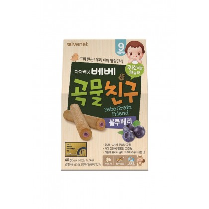 Ivenet Bebe Grain Friends 40g (Blueberry) 9m+