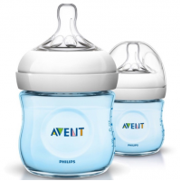 Avent Natural Bottle 4oz/125ml (Twin Pack) Blue