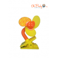 Little Bean Deluxe Clip Fan (Yellow)