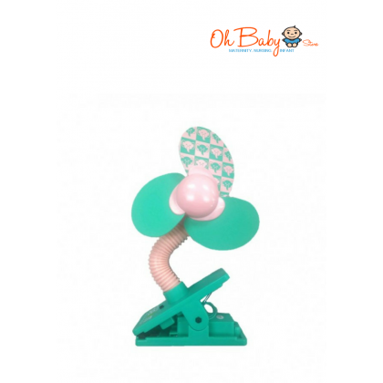 Little Bean Deluxe Clip Fan (Green)