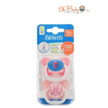 Dr.Brown's Prevent Butterfly Soother Stage 3 (2pcs) Pink