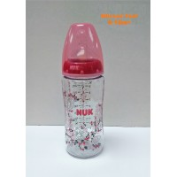 ​NUK - Premium Choice Wide Neck Silicone Teat 6m+ PA Bottle Pink (300ml)