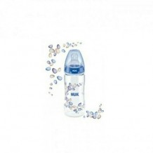 ​NUK Premium Choice Wide Neck Silicone Teat 0-6m+ PA Bottle Blue (300ml)