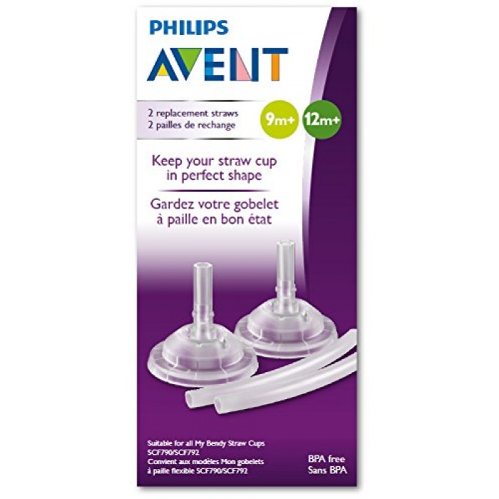 Avent Replacement Straw For Bendy Straw Cup 7 10oz 2pcs