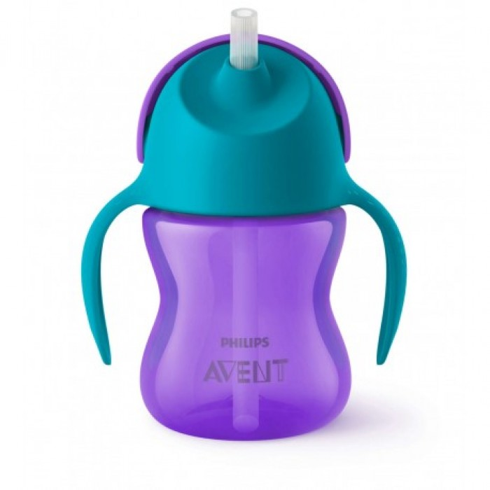 Avent Bendy Straw Cup 7oz (Purple