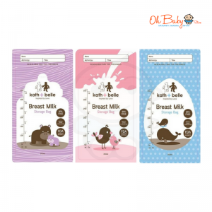 Kath+Belle Breast Milk Storage Bags 24pcs x 10oz with 6 Design