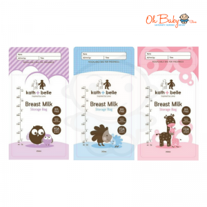 Kath+Belle Breast Milk Storage Bags 24pcs x 10oz with 6 Design (3 Box)