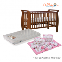 Seni Daya Costa 4 in 1 Baby Cot Package (Include Getha mattress & Crib Set)