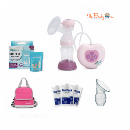 Malish Lifestyle Single Electric Breast Pump  Package
