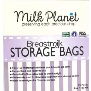 Milk Planet Double Ziplock Breastmilk Storage Bag (5oz x 5Box)