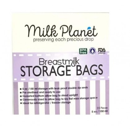 Milk Planet Double Ziplock Breastmilk Storage Bag (5oz x 3Box)