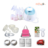 Spectra S1 Hospital Grade Double Electric Breast Pump & Freemie Package