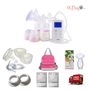 Spectra 9 Plus Double Electric Breast Pump & Freemie Package