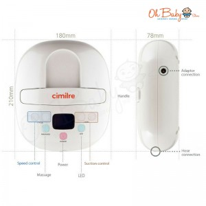 Cimilre S3 Hospital Grade Double Breast Pump & Freemie Package