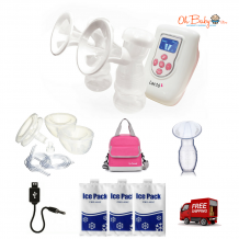 Lacte Duet Breast Pump & Freemie Package