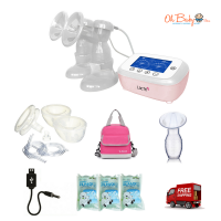 Lacte Duet Elite Rechargeable Electric Breast Pump & Freemie Package