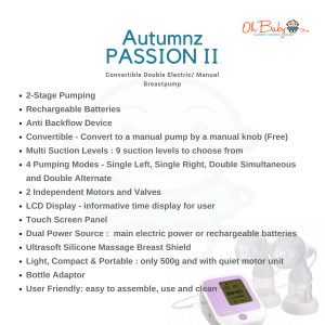 Autumnz PASSION II Double Electric Breastpump & Freemie Package