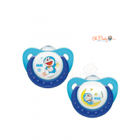 NUK Doraemon Trendline Silicone Soother  (0 - 6month) 2pcs