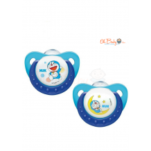 NUK Doraemon Trendline Silicone Soother  (6 - 18month) 2pcs