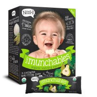 Nosh Baby Munchables Organic Teething Wafers (Broccoli Pear and Kale)