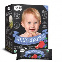 Nosh Baby Munchables Organic Teething Wafers  (Pomegranate and Blueberry)