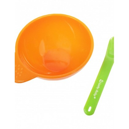 Lucky Baby Easy-Grip Bowl With Spoon - Orange